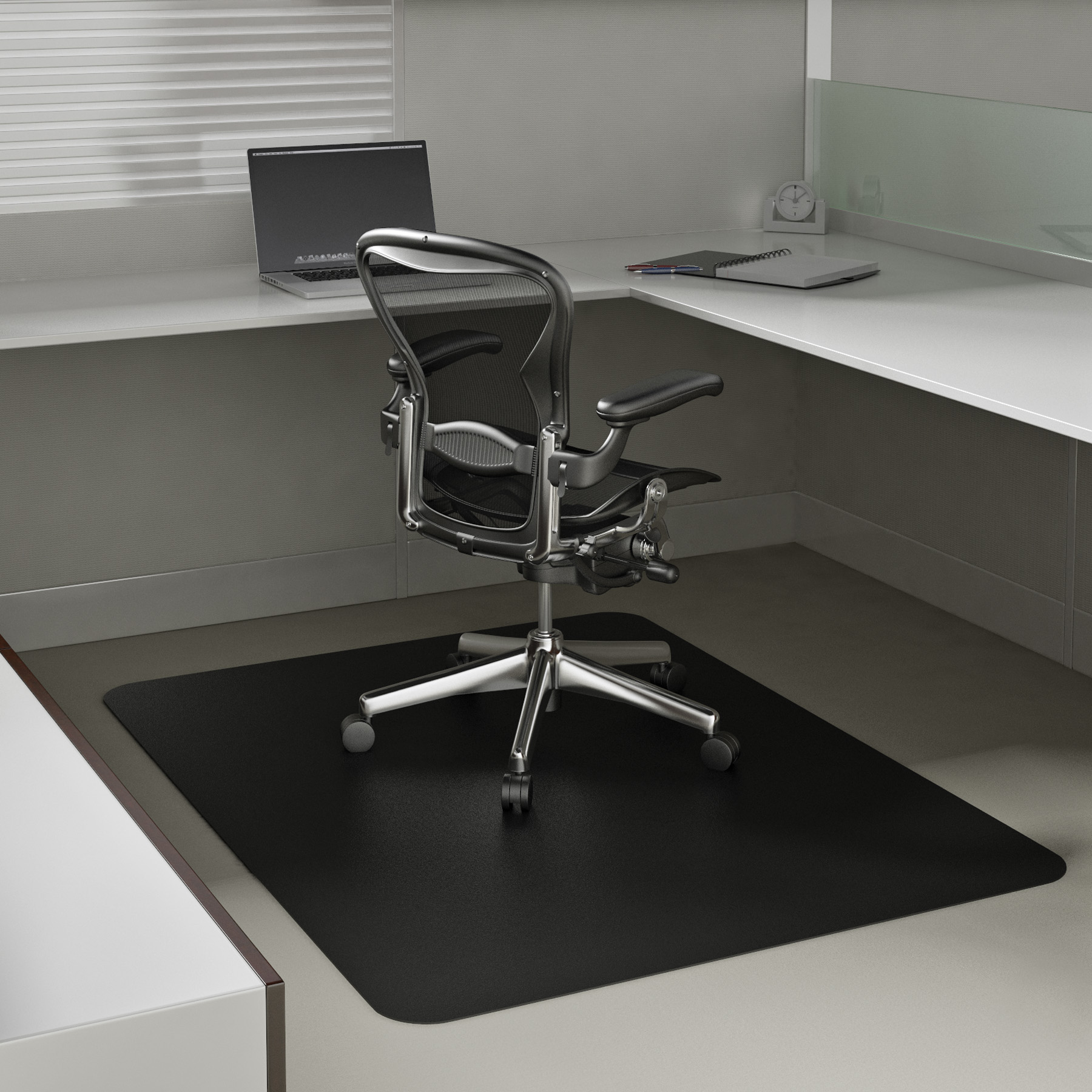 Static Mat For Office : Black chair mats for carpet